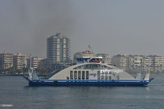 Car and passenger ferry travelling between uckuyular(South) and bostanli(North) ferry terminals across izmir bay.this route can save 30kms city traffic.