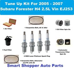 Tune Up For 00-04 Subaru Forester Impreza 2.5 H4 Spark Plug Wire Set Fuel Air