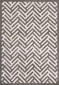 Decor Rugs Geo Shapes Collection Classy Zigzags Brown Rug