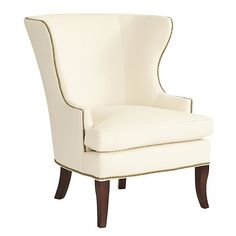 Thurston Wing Chair with Antique Brass Nailheads