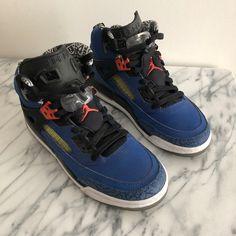 info for 62f5f 3a9cd Jordan Shoes   Nike Air Jordan Spizike - Blue Ribbon   Color  Blue Orange    Size  7