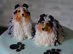 Rough Collie Toonie Dog Miniature Collie MADE IN THE USA Sheltie+ Bride /& Groom Wedding Cake Topper Toonie Collie Bride and Groom Cake Topper with Dog Shetland Sheepdog Collie Dog