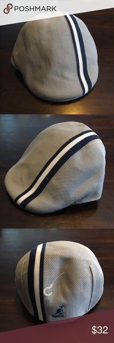 2499d2d4e25cd Kangol hat polo stripe. Gray and navy men s medium Brand new with tags!  Kangol