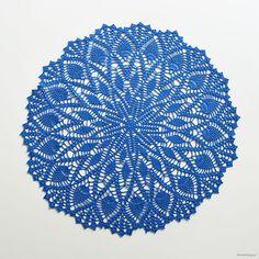 Duk i kattens merci (fast i kinna textil fino) – litevirkning Free Doily Patterns, Crochet Thread Patterns, Free Pattern, Crochet Trim, Knit Crochet, Crochet Hats, Crochet Dollies, Doilies, Ravelry