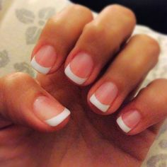 Beautiful w/White Tip Nail Arts Ideas