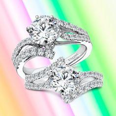 Seeking a dramatic diamond engagement ring without elaborate detailing? Go for a split shank bypass setting! #Valina #diamonds #bridaltrends #perfectwedding #wedding2021 #2021weddings #ringbling #bridal #bridetobe #heputaringonit #engagementringideas #diamondrings #bridalcouture #engagementrings #ringstagram #diamondlover #weddingdreams #whitegold #whitegoldengagementring #enagagementringgoals #statementring #statementengagementring #splitshank #modernengagementring #modernjewelry Luxury Engagement Rings, Classic Engagement Rings, Modern Jewelry, Fine Jewelry, Split Shank, Dream Ring, Statement Rings, Diamond Rings, Diamonds