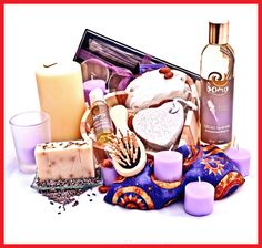 Valentines Day gift basket with Aromatherapy by Mixaroma