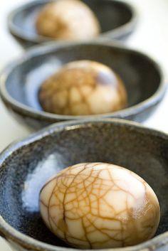 Three Tea Eggs in a row by FoodMayhem.com, via Flickr