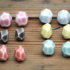 Faceted Stone Studs from notonthehighstreet.com