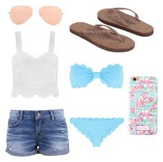 Summer Style by kaylaherring97 on Polyvore featuring polyvore, fashion, style, Marysia Swim, Rainbow and Ray-Ban