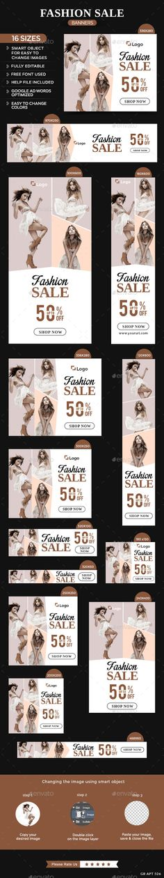 Fashion Sale Banners Template PSD | Download: http://graphicriver.net/item/fashion-sale-banners/11007264?ref=ksioks