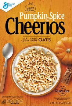 Thanks to Cheerios, Pumpkin Spice Season Is Already Here to Take Over Your Soul Gluten Free Oats, Gluten Free Pumpkin, Pumpkin Recipes, Fall Recipes, New Recipes, Pumpkin Pumpkin, Favorite Recipes, Pumpkin Puree, Dairy Free