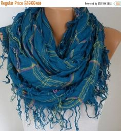 ON SALE  Cotton Tartan Scarf Fall Winter Accessories by fatwoman