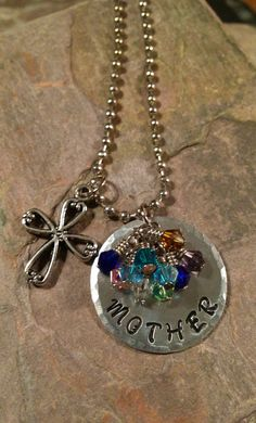 Mother Nanny Grandma Grandkids 10 Birthstone by ILLBECHARMED, $26.00