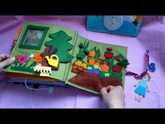 (306) Children's quiet book, big felt doll house with a lot of little parts , busy book, soft book - YouTube