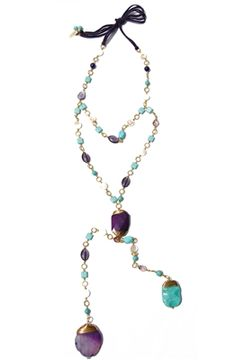Cute dual #boho pendant collar! We love this look! #jewelry #turquoise