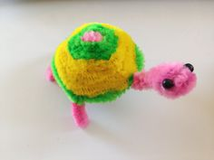 Pipe Cleaner Turtle tutorial [with Audio]