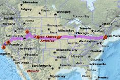 This looks like the perfect route one way across the US. Maybe Summer 2014?