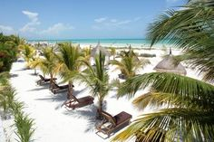 Take me away to here! Beach side view from CasaSandra in Hol Box Island Mexico.