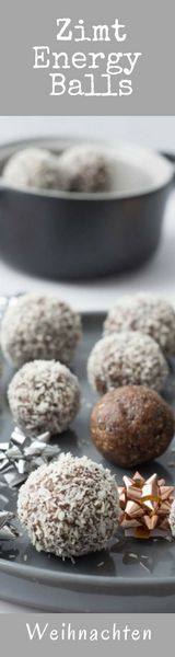 Energyballs mit Zimt, Pecannüssen und Kakao