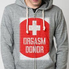 orgasm - Tri-blend V-neck - Designed by darlingnicki_69 using Snaptee