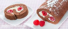 Chocolade cakerol Swiss Cake, Cookie Pie, High Tea, Trifle, Let Them Eat Cake, Cake Cookies, Baking Recipes, Baking Ideas, Gingerbread Cookies