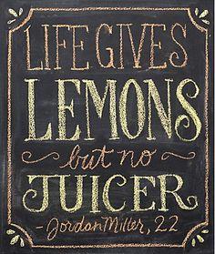 Chalkboard hand-lettering