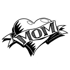 Black And White Mom With Heart Shape Tattoo Design Trendy Tattoos, Cute Tattoos, Leg Tattoos, Black Tattoos, Body Art Tattoos, Sleeve Tattoos, Form Tattoo, Shape Tattoo, Tattoo Quotes For Women