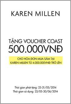 Khuyến mãi Karen Millen - Tặng Voucher Coast 500.000VND   ghienkhuyenmai