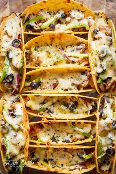 Oven Baked BBQ Chicken Tacos - these are the BEST Football Party Food Ideas & Recipes! #chickenfoodrecipes