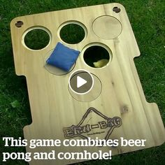 Bru-Bag – American Flag Beerpong meets Cornhole in the ultimate Lawn Game. All the rules and fun from one of your favorite party games has been converted into a family friendly Bean Bag Toss Game that all ages can enjoy. Diy Yard Games, Lawn Games, Backyard Games, Diy Games, Party Games, Games To Play, Beer Games, Backyard Ideas, Beer Drinking Games