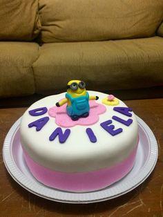 torta minion para Daniela