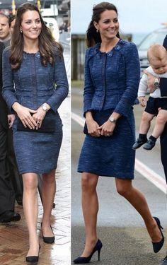 16 April 2014 - Blue Rebecca Taylor Sparkle & Tweed Suit