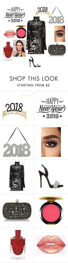 """happy new year"" by mayamaya269 ❤ liked on Polyvore featuring Cricut, Halpern and MAC Cosmetics"