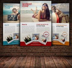 Tour Travel Flyer Template by Leza on Creative Market