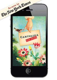 CARTOLINA APP - for sending pretty texts and emails   The Cartolina app allows you to send brief but beautiful messages to all your friends and family! Choose from 27 gorgeous, designs, customize your message and email or text to all your favourite people! Pretty Hi Tech!