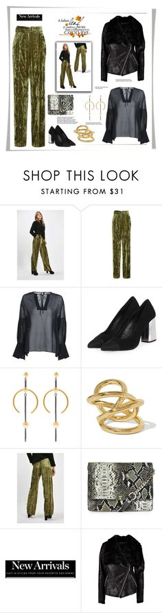 """Topshop set by rousou"" by rousou ❤ liked on Polyvore featuring Topshop, Maria Black and Jennifer Fisher"