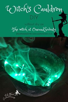 How to make a smoking witch's cauldron without dry ice - The Witch at OneandSeventy: www.suzyhomemaker.co.uk   @SuzyHomemakerUK