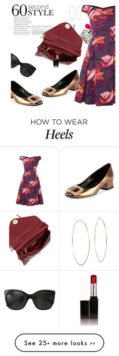 """60 Second Style: Off-Shoulder Dress"" by janephoto on Polyvore featuring Ariella, Roger Vivier, Michael Kors, Victoria's Secret, Chanel, Tory Burch, Laura Mercier and 60secondstyle"