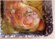 ...konyhán innen - kerten túl...: Töltött csirkecomb Turkey, Meat, Food, Red Peppers, Turkey Country, Essen, Meals, Yemek, Eten