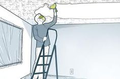 1000 images about removing popcorn ceiling on pinterest for How to remove popcorn ceiling without water