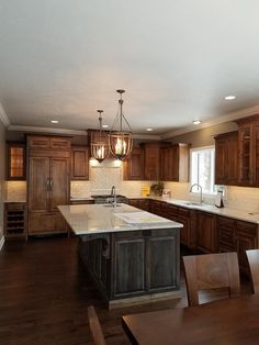 a nice large open kitchen