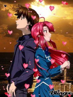kazuma y ayano Anime Watch, All Anime, Anime Chibi, Kawaii Anime, Manga Anime, Kaze No Stigma, Absolute Duo, Fantasy Couples, Anime Recommendations