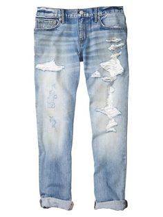 1969 destroyed sexy boyfriend jeans Product Image