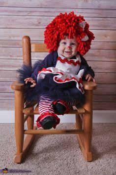 Raggedy Ann - DIY Baby Halloween Costume Idea