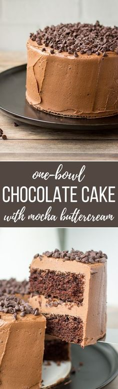 One-bowl mini chocolate cake with mocha buttercream | A sweet, tiny dessert, mixed by hand in one bowl, perfect for chocolate lovers! #minicake #onebowl #chocolatecake via @nourishandfete