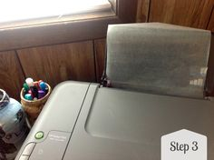 The Creek Line House: How to transfer an image onto fabric using wax paper and your printer!