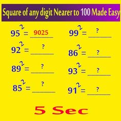 Square of any digit closer to 100 made easy