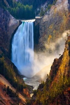 Lower Falls. Grand Canyon of Yellowstone. Wyoming. USA. Must Must Must Go!