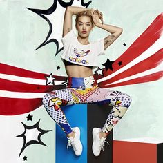 adidaswomen's photo: Inspired by the world of pop art and Technicolor comic strips, the @adidasOriginals by @ritaora Super Pack launches today! adidas.com/ritaora